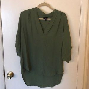 Missimo split neck blouse